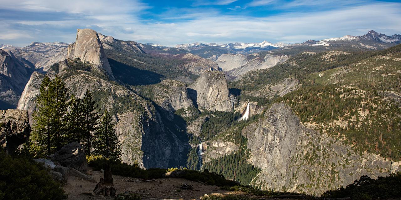 Image Yosemite California USA Cliff Nature Mountains Parks Scenery Rock Crag mountain park landscape photography