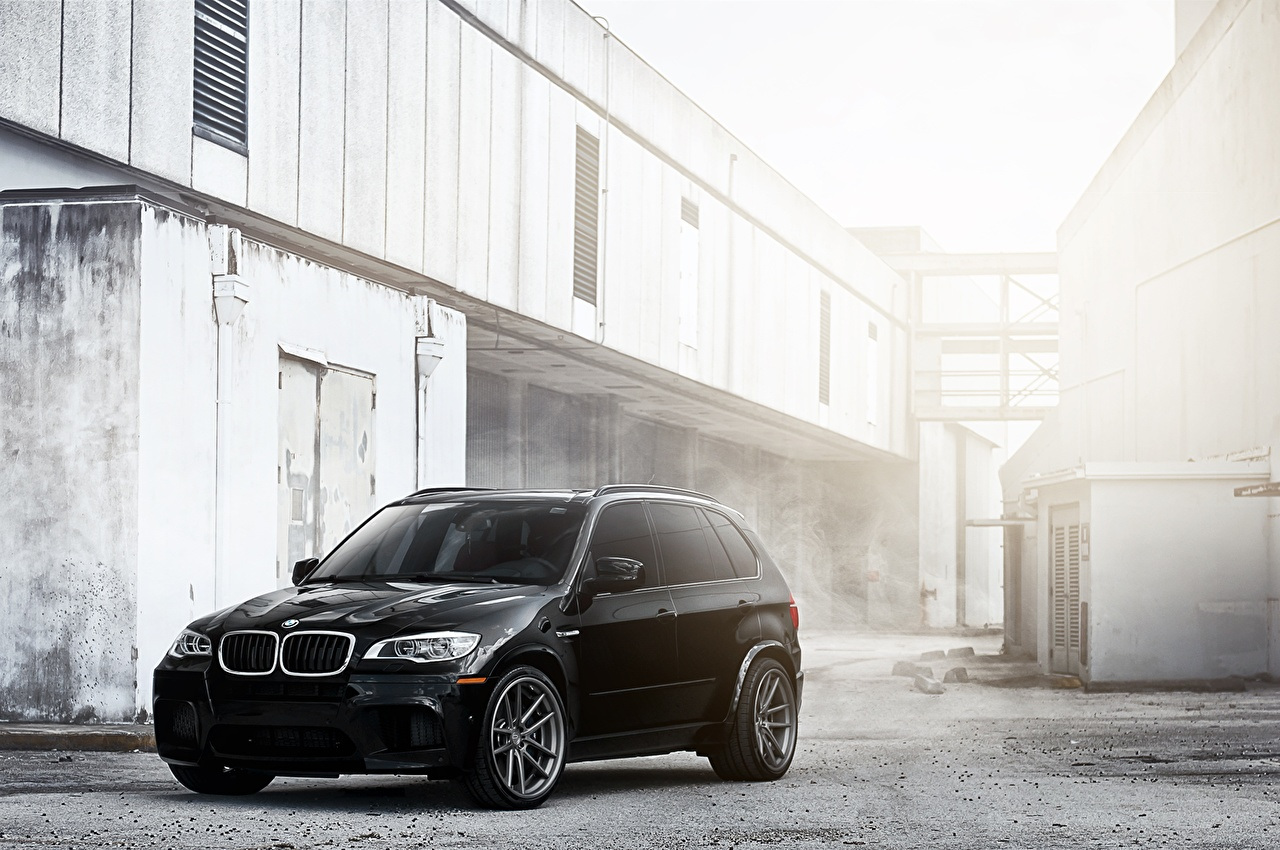 Photo BMW X5M Black Cars auto automobile