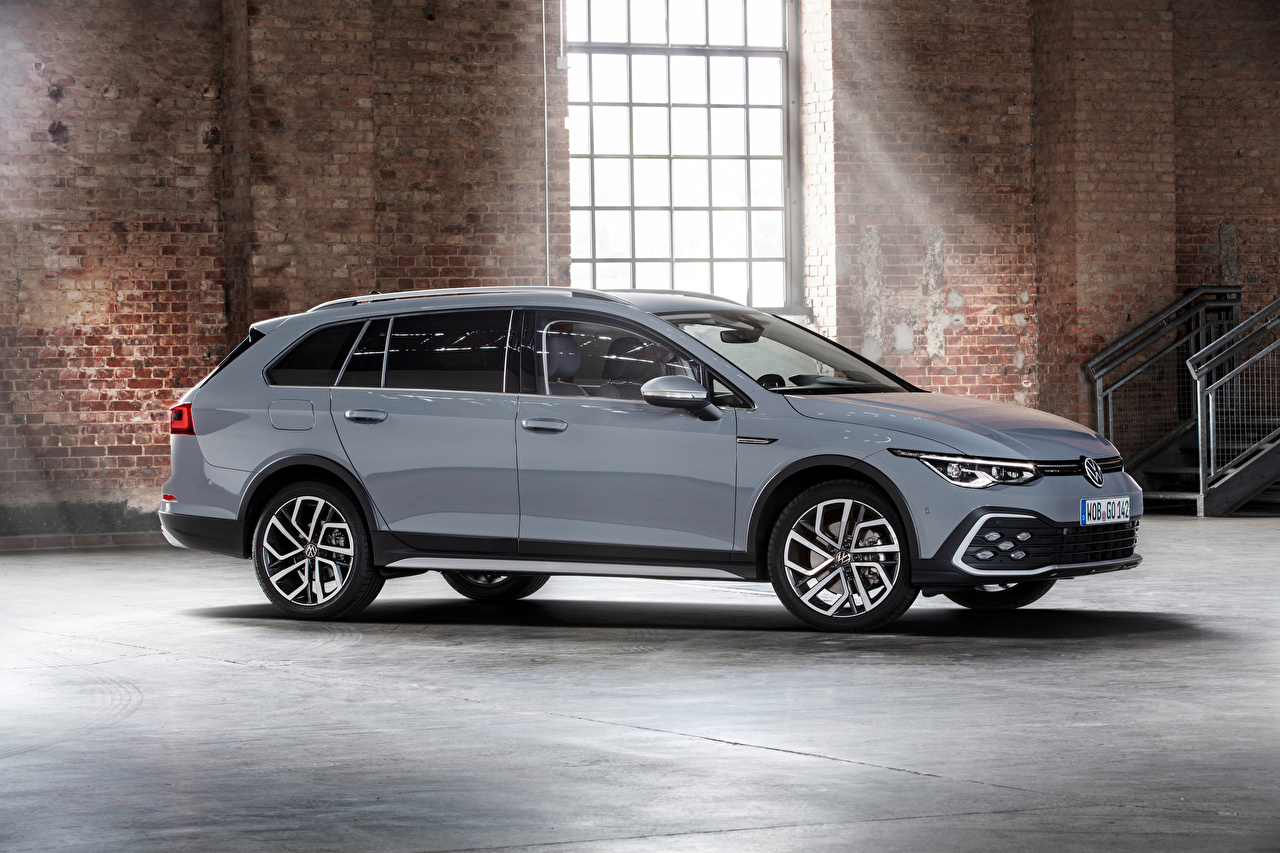 Desktop Wallpapers Volkswagen Estate car Golf Alltrack, 2020 gray Cars Metallic Station wagon Grey auto automobile