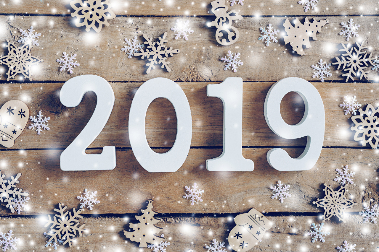 Photos 2019 Christmas Snowflakes Christmas tree Snow boards New year New Year tree Wood planks