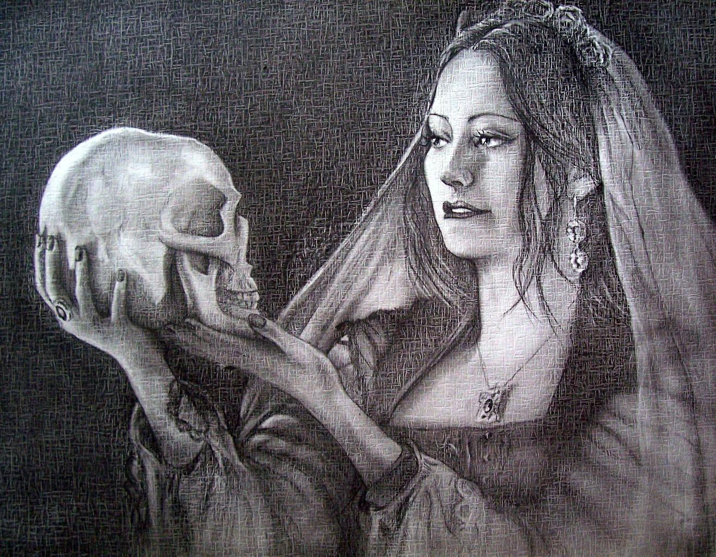 Desktop Wallpapers Skulls Gothic Fantasy Girls Fantasy Hands Black