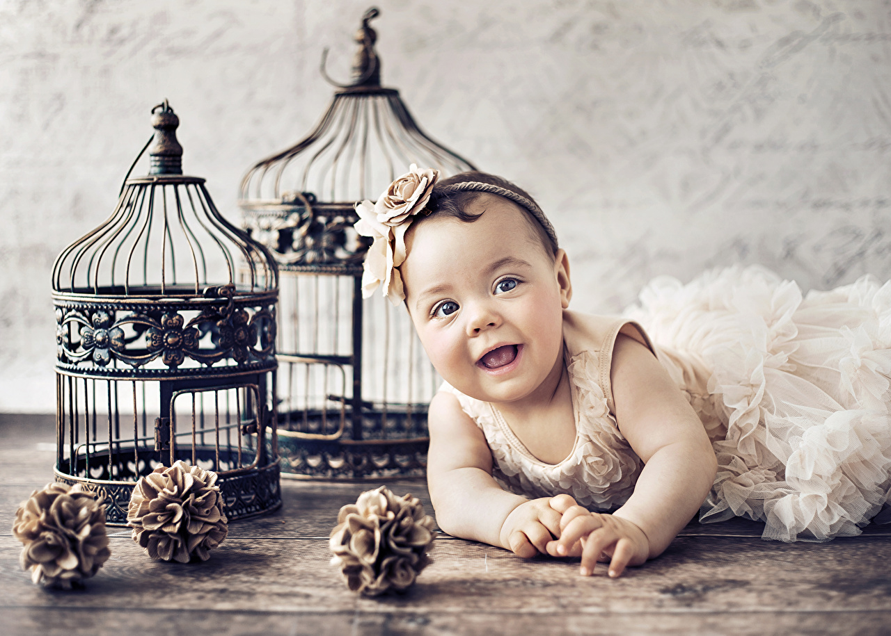 ,,嬰兒,微笑,连衣裙,儿童,