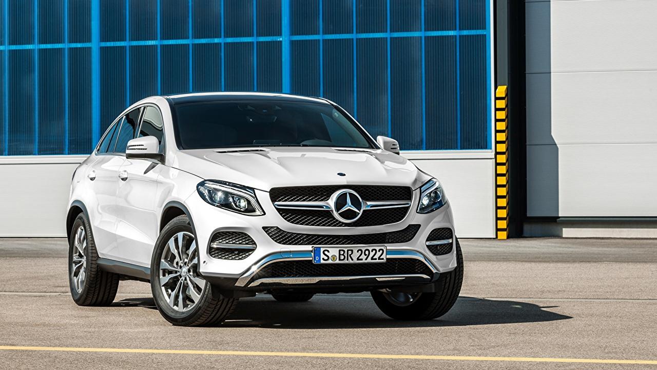 Image Mercedes-Benz 2015 GLE 450 AMG 4MATIC Coupe C292 White auto Cars automobile
