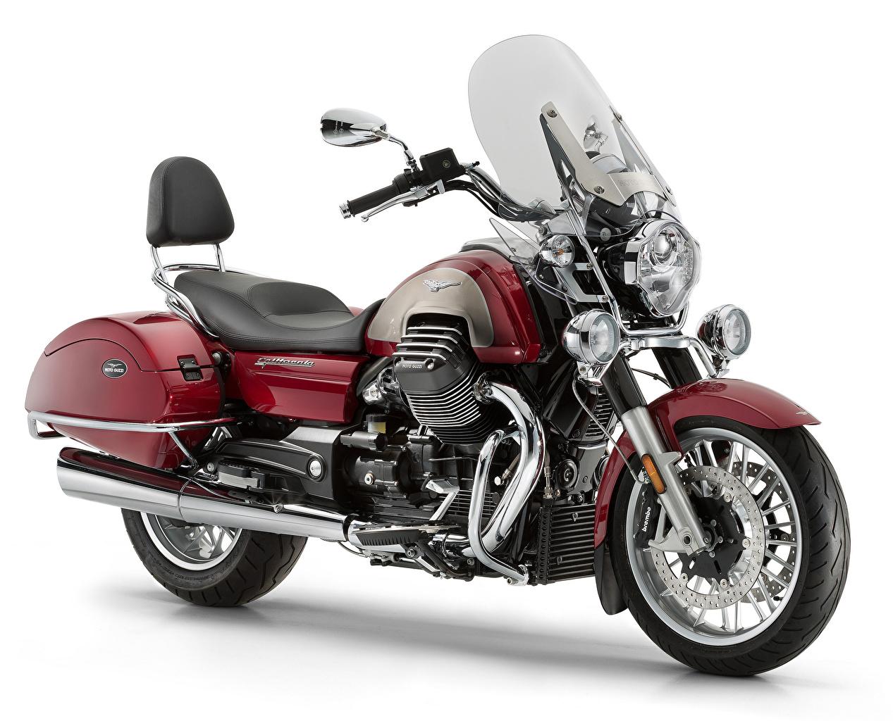 Wallpaper 2012-21 Moto Guzzi California 1400 Touring SE maroon Motorcycles White background dark red burgundy Wine color motorcycle