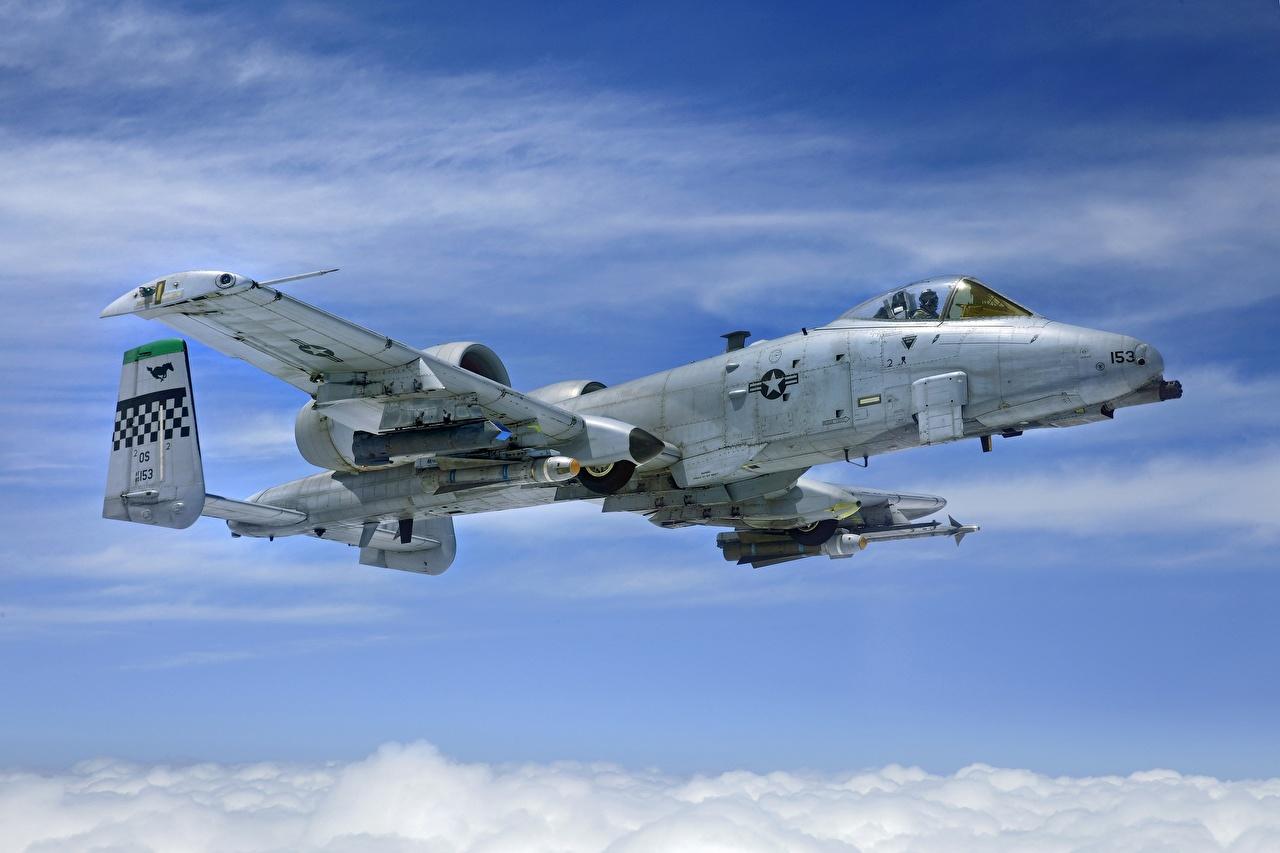 Bilder von A-10 Thunderbolt II Erdkampfflugzeug Flugzeuge amerikanisches AGM-65 Maverick, AIM-9 Sidewinder Luftfahrt Schlachtflugzeug US Amerikanisch amerikanische amerikanischer