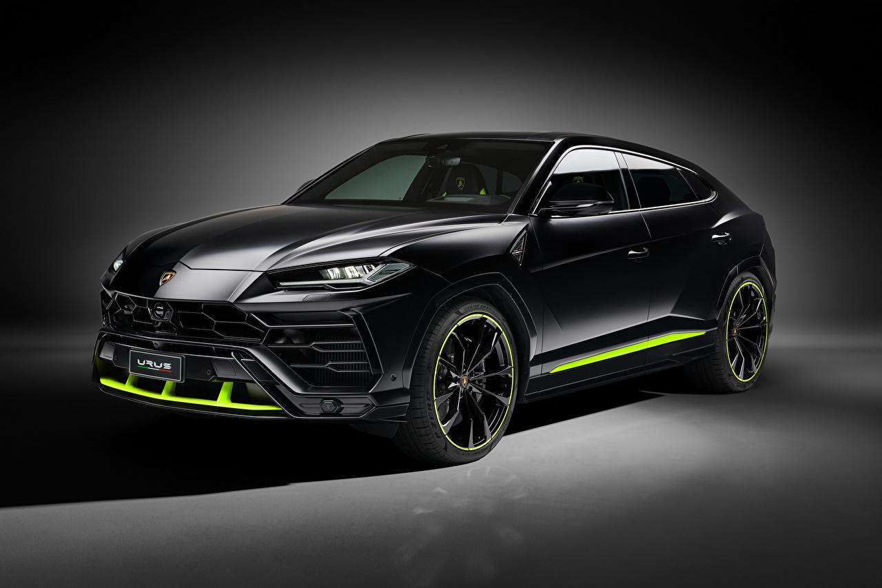 Photo Lamborghini CUV Urus 'Graphite Capsule', 2020 Black automobile Crossover Cars auto