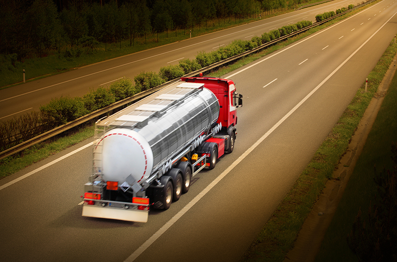 Desktop Wallpapers lorry Red Roads Motion auto Trucks moving riding driving at speed Cars automobile