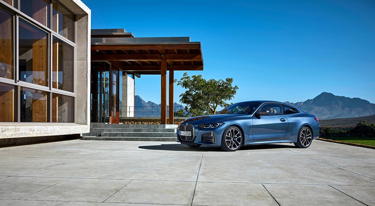 BMW Coupe Bleu ciel voiture, automobile Voitures