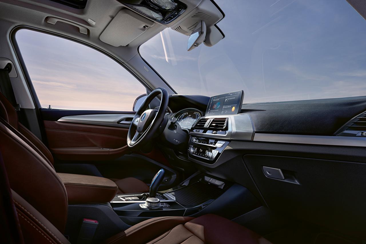 Desktop Hintergrundbilder BMW Salons Lenkrad Crossover iX3, G08, Worldwide, 2020 auto Softroader Autos automobil