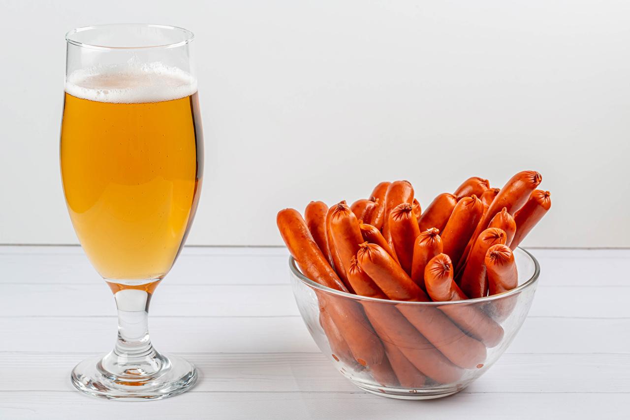 Desktop Wallpapers Beer Bowl Vienna sausage Food Stemware