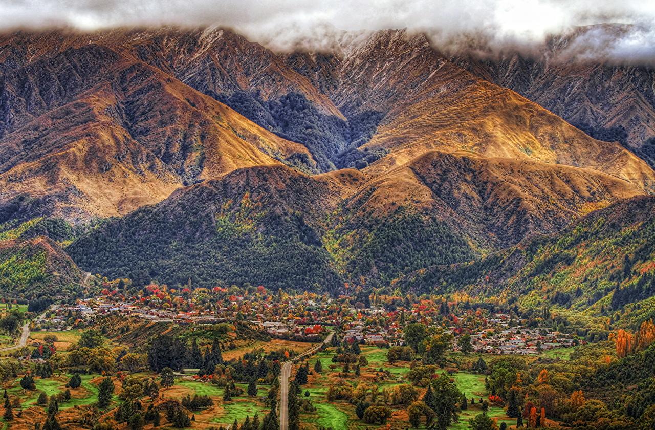 、風景写真、ニュージーランド、山、Arrowtown、ハイダイナミックレンジ合成、自然、