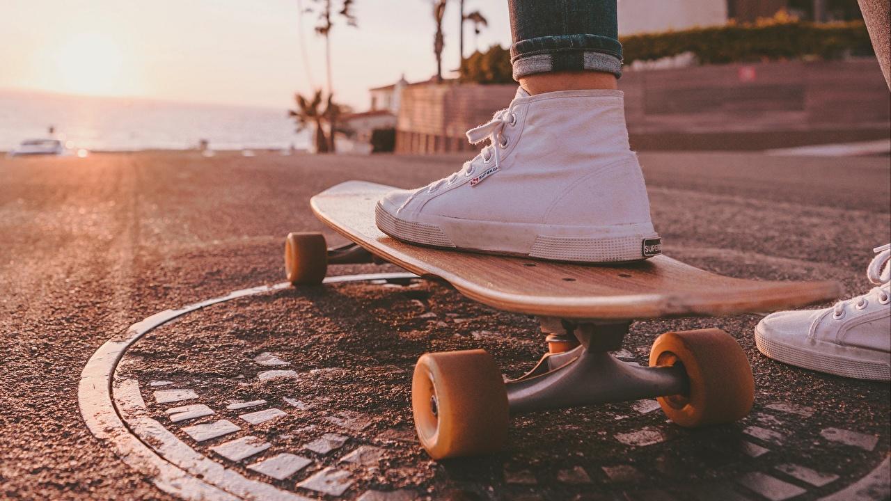 Fonds D Ecran Skateboard En Gros Plan Chaussure Plimsoll Telecharger Photo