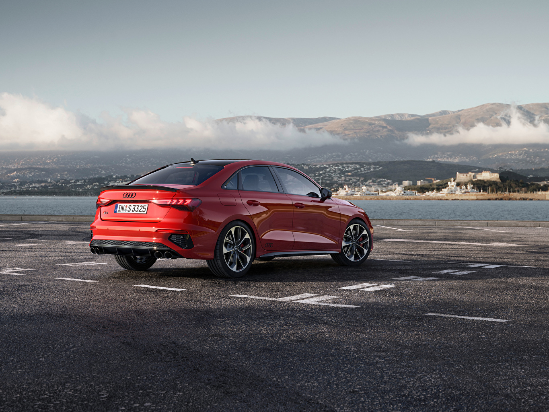Wallpaper Audi S3 Sedan, 2020 Red Side Metallic automobile Cars auto