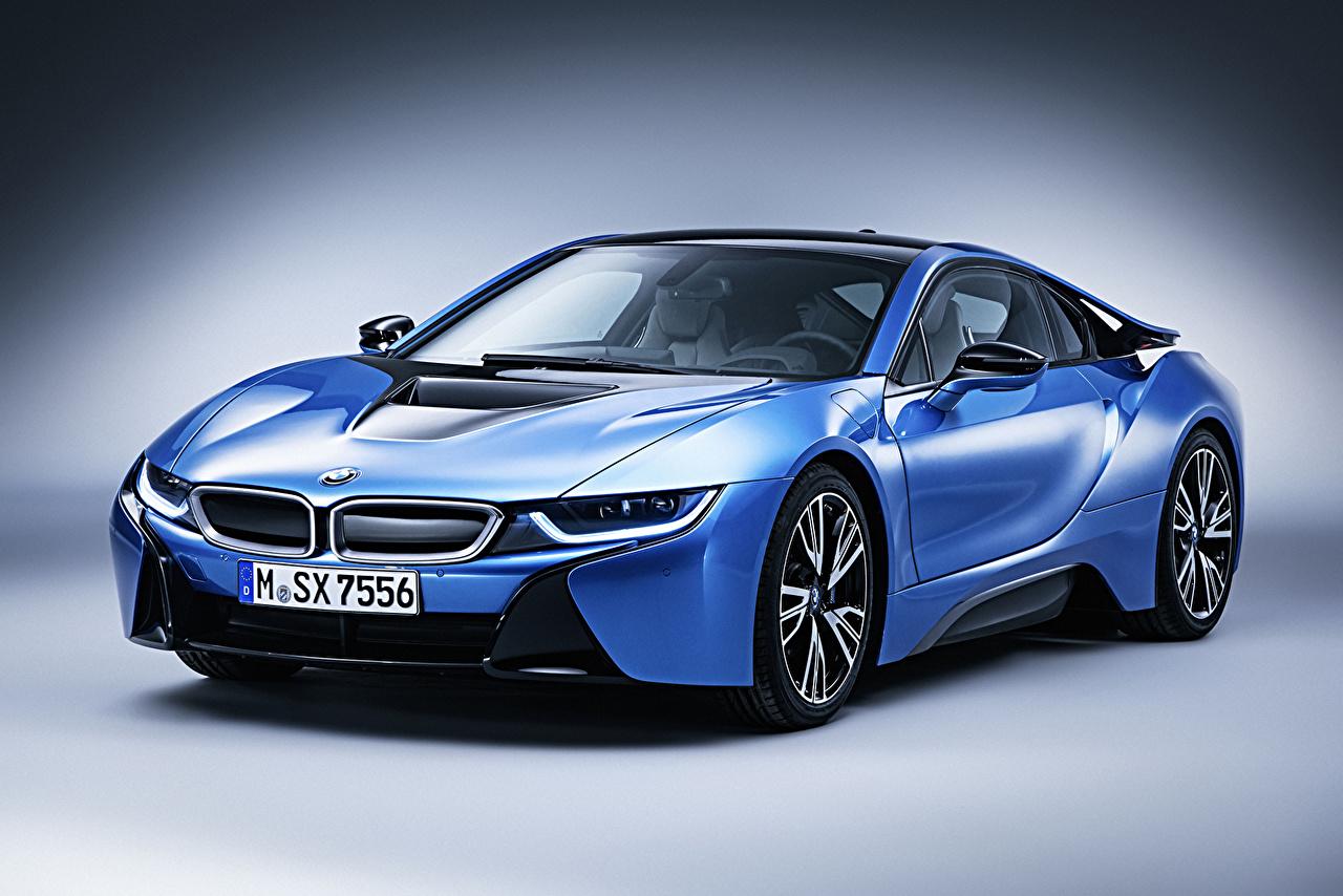 Wallpaper BMW Tuning 2015 i8 Pure Impulse Luxury Light Blue Cars Metallic luxurious expensive auto automobile