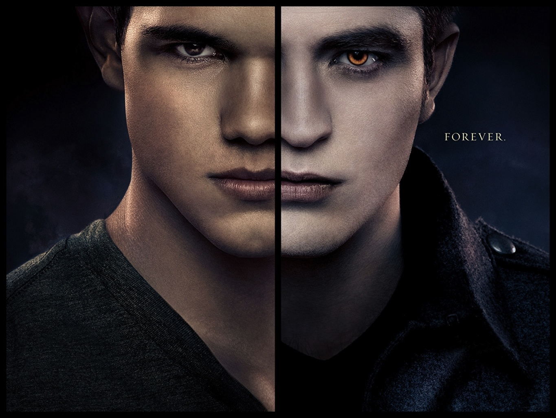 Pictures The Twilight Saga Breaking Dawn The Twilight Saga Taylor Lautner Robert Pattinson Man Face film Staring Celebrities Men Movies Glance