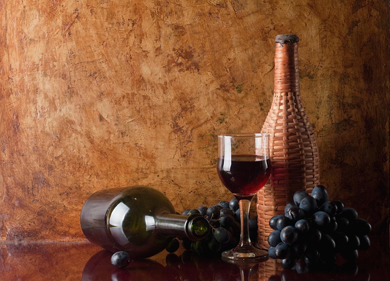 Picture Wine Grapes Food Bottle Stemware bottles