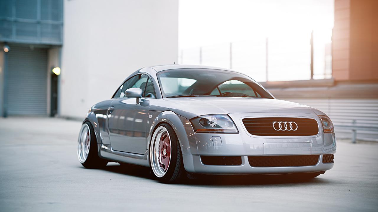 Fondos De Pantalla Audi Tt Stance Frente Plata Color Coches