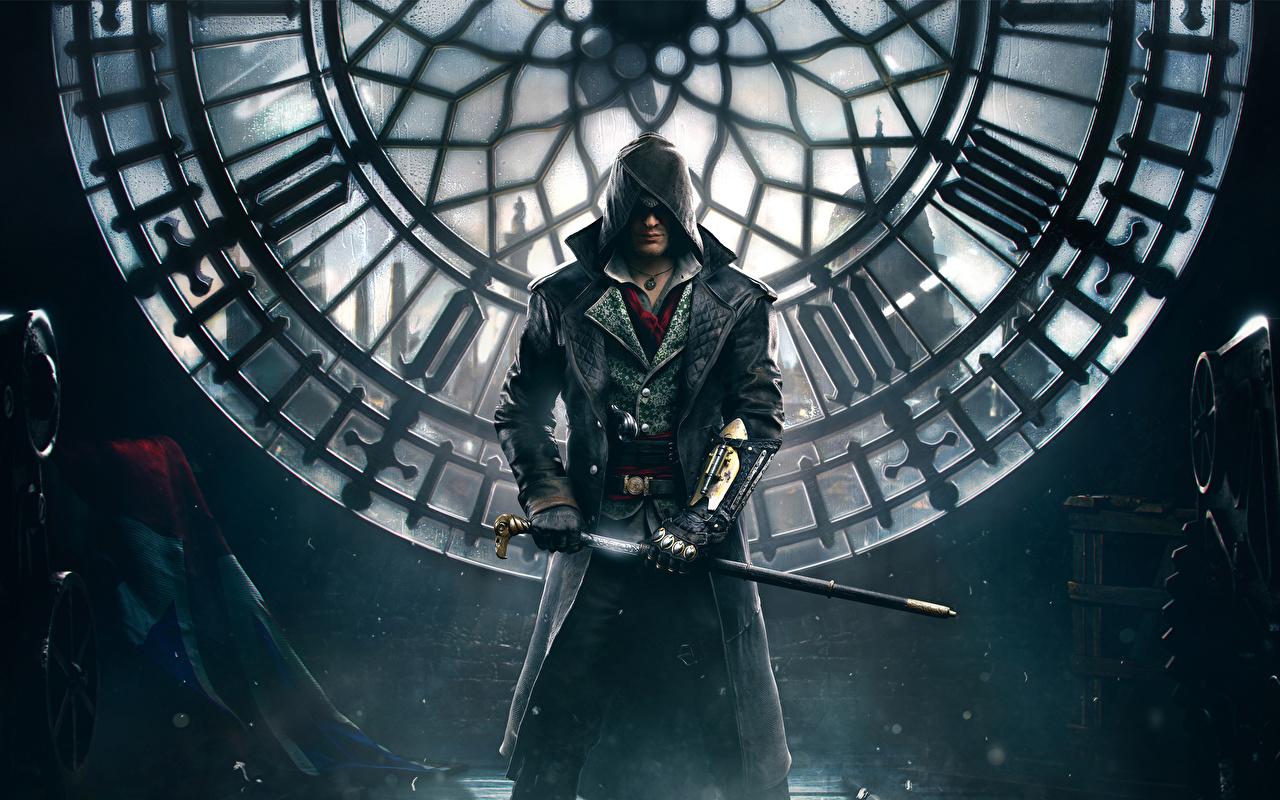 Картинка Assassin's Creed Assassin's Creed Syndicate Лондон Мужчины Jacob Frye Игры капюшоне лондоне мужчина компьютерная игра Капюшон капюшоном