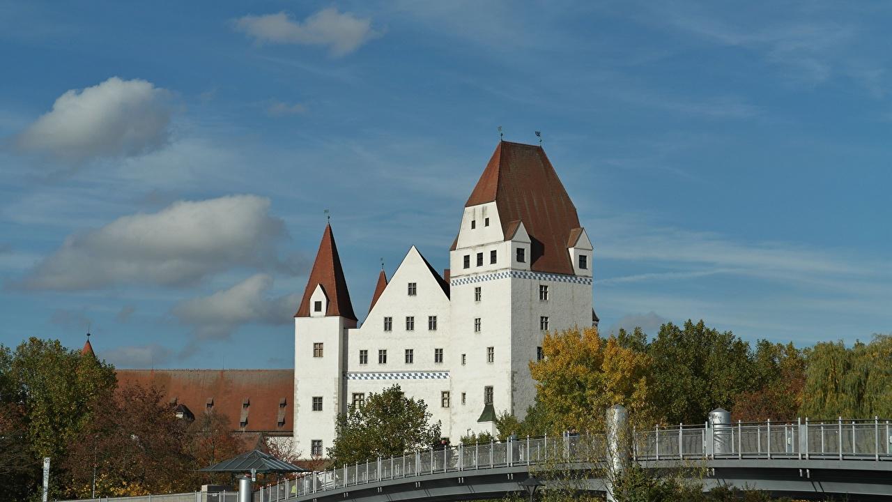 Hintergrundbilder Bayern Deutschland Ingolstadt Burg Städte