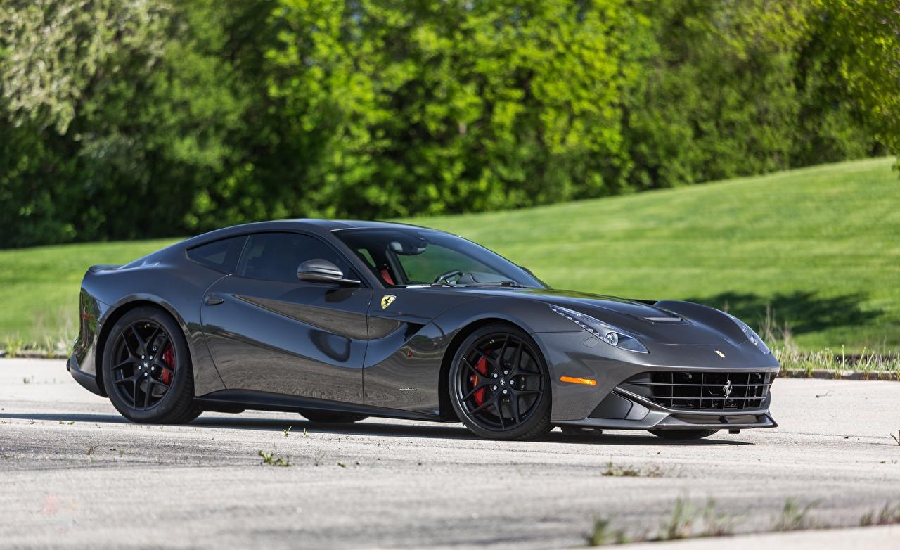 Image Ferrari f12 novitec carbonfiber Grey Side Cars gray auto automobile