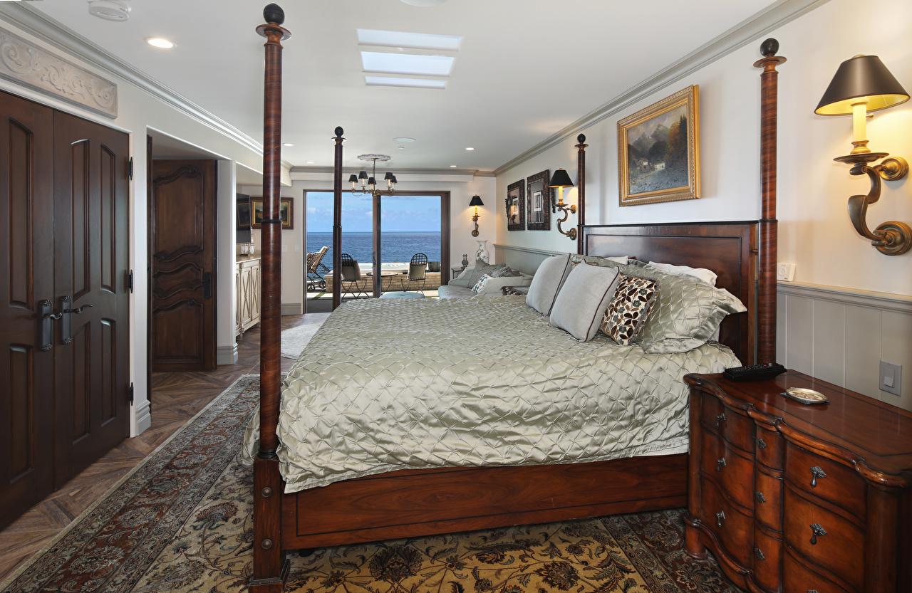 Image Bedroom Interior Bed Lamp Design