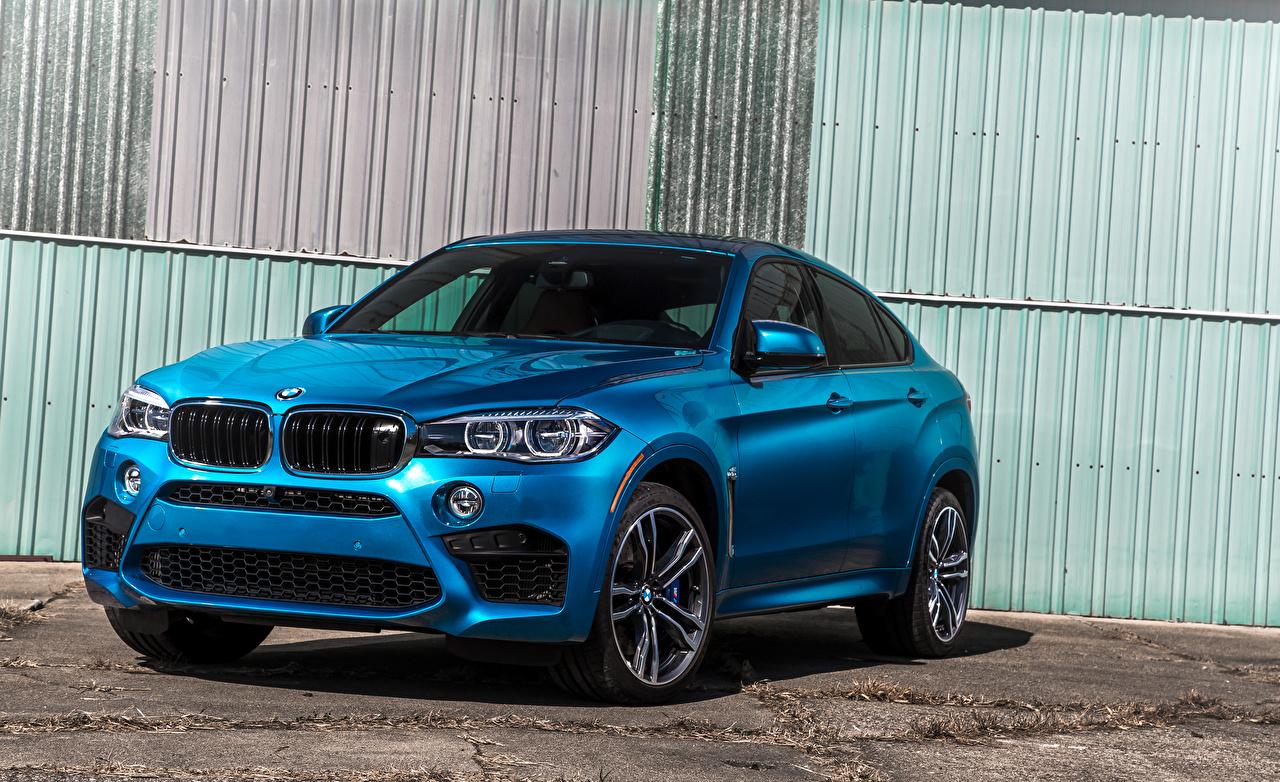 Wallpaper BMW 2015-16 X6 M Light Blue auto Cars automobile