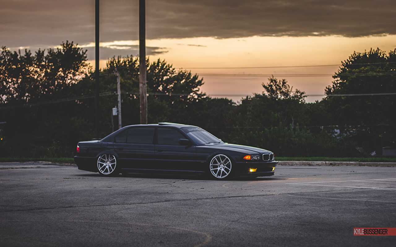 Picture Bmw E38 Stance Tuning 740il Black Automobile