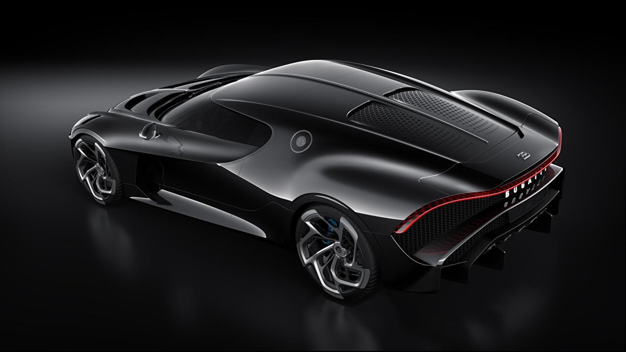 Fotos von BUGATTI Karbon La Voiture Noire Schwarz Autos Von oben Carbon Kohlefaser auto automobil