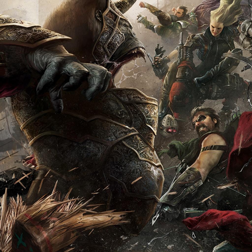 Bilder Injustice 2 Ungeheuer Krieger Fantasy Spiele Monster Ungetüm computerspiel