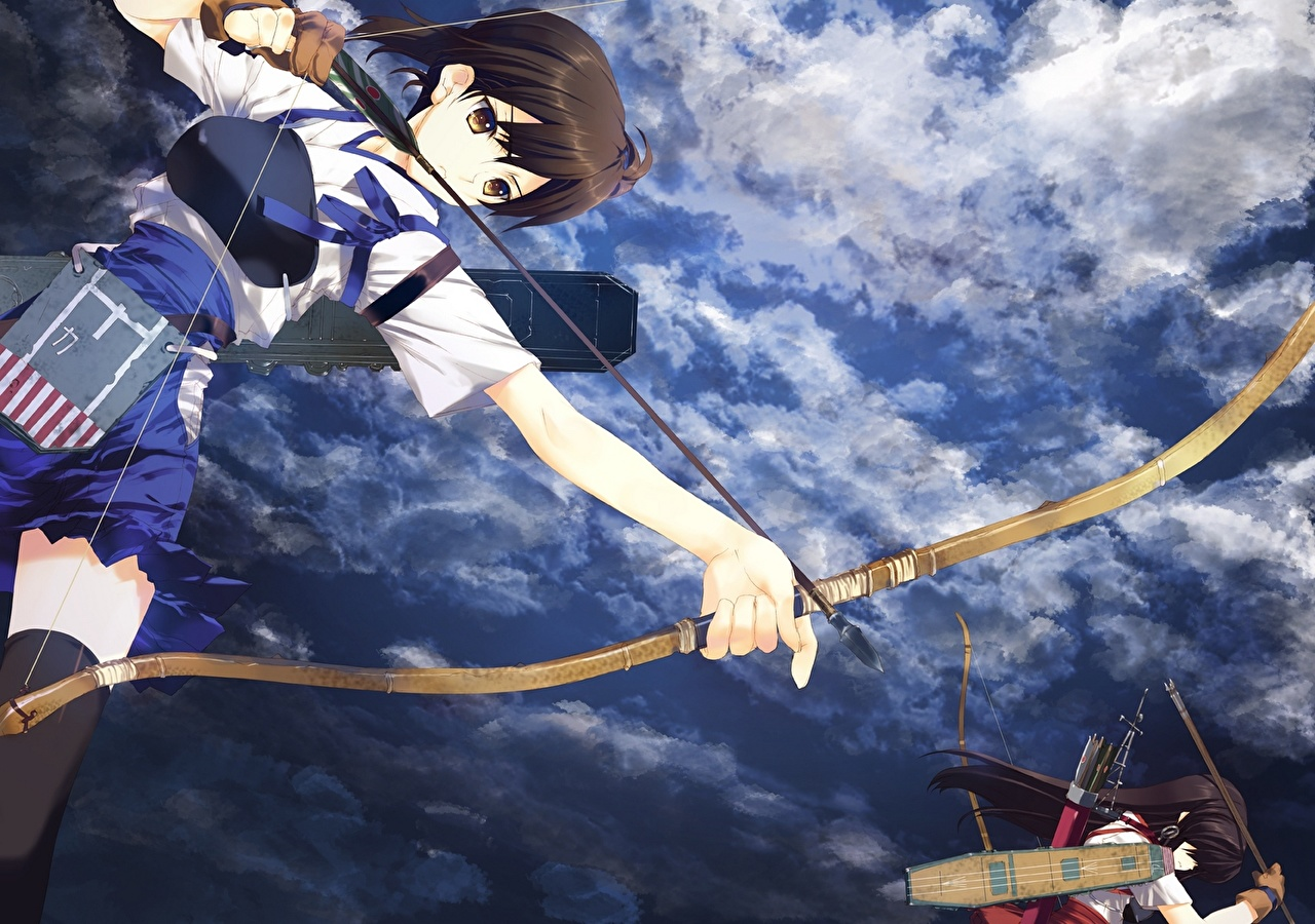 壁紙 艦隊これくしょん 艦これ 射手 空 Nakamura Takeshi Akagi