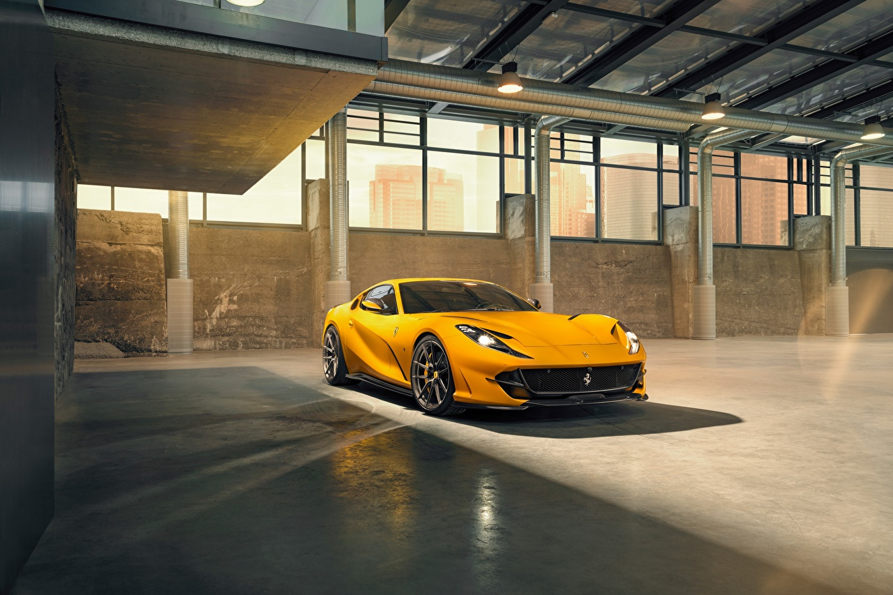 Photo Ferrari 812 by Novitec Yellow automobile Cars auto