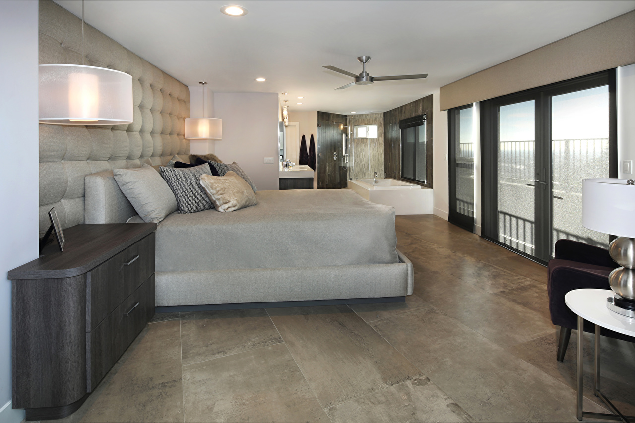 Wallpapers Bedroom Interior Bed Lamp Design