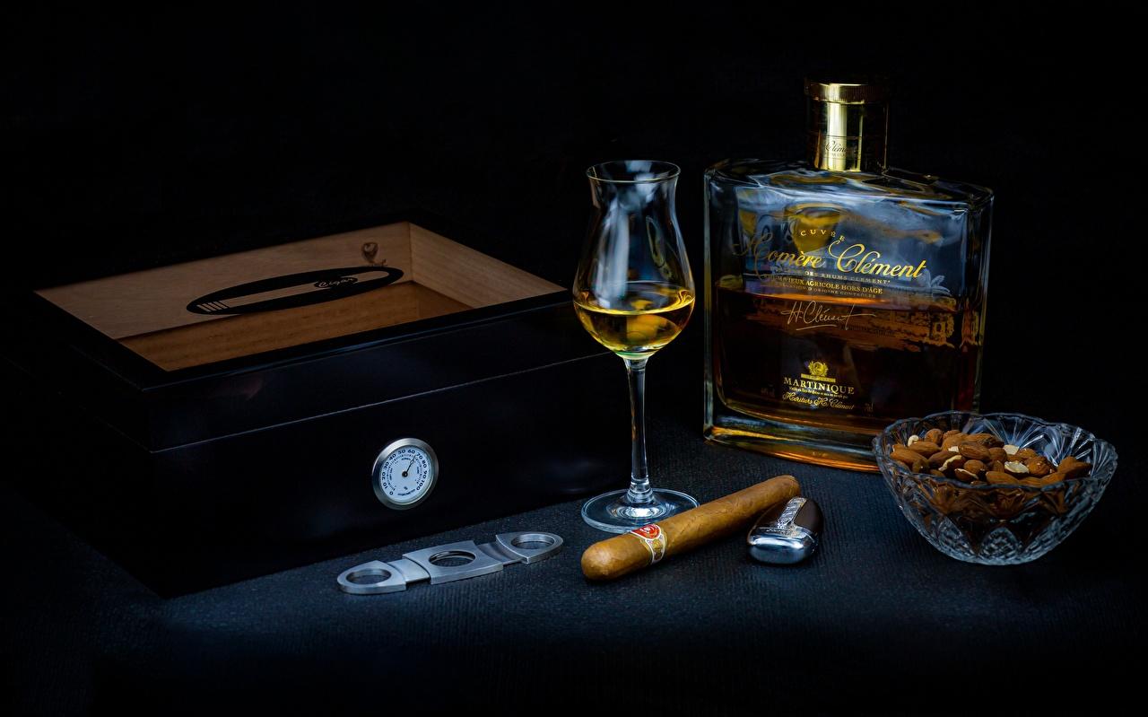 Desktop Wallpapers Cigar Alcoholic drink Box Food Bottle Shot glass Nuts cigars bottles