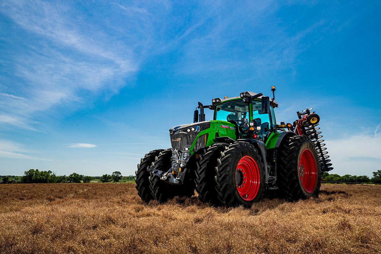 Bilder von Traktor Fendt, 942, Vario Grün Acker Himmel traktoren Felder