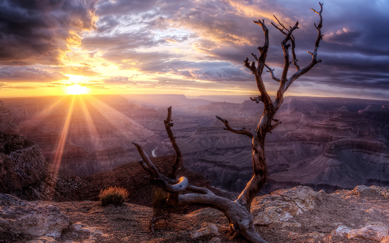 Images Rays Of Light Usa Arizona Grand Sun Hdri Nature