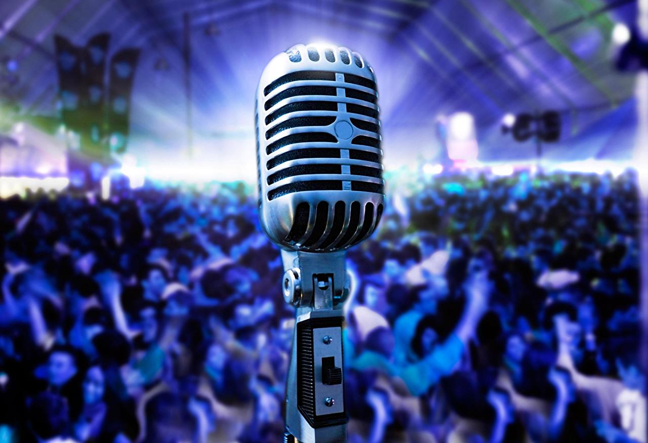 Desktop Wallpapers Microphone Concert Retro Music Closeup