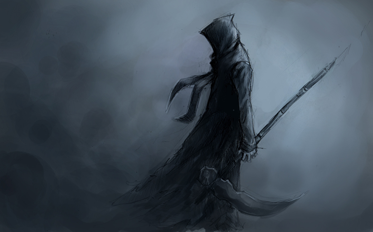 Desktop Wallpapers Scythe Gothic Fantasy Personification