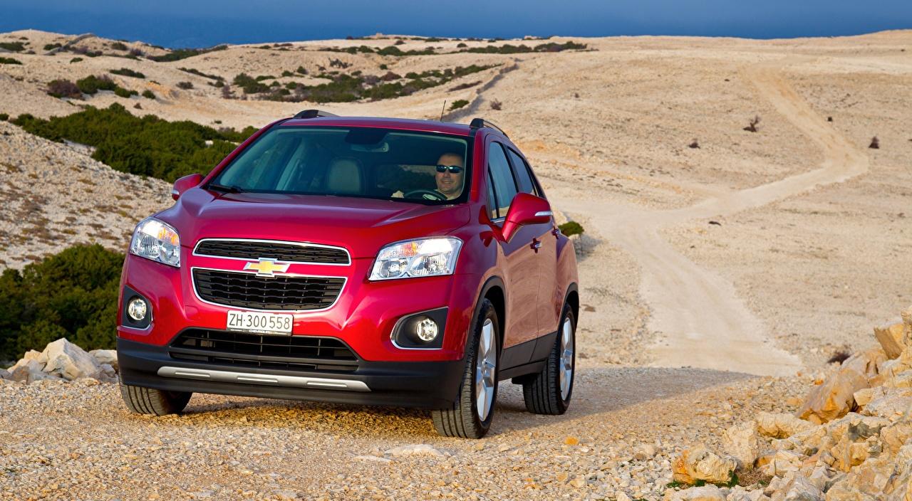 Bilder von Chevrolet Crossover Trax, 2013 Rot auto Vorne Metallisch Softroader Autos automobil