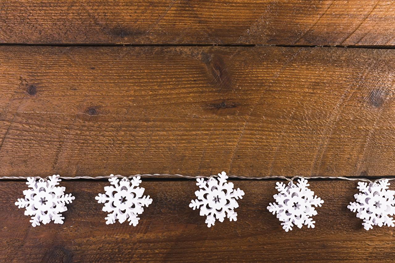 Desktop Hintergrundbilder Neujahr Schneeflocken Vorlage Grußkarte Bretter