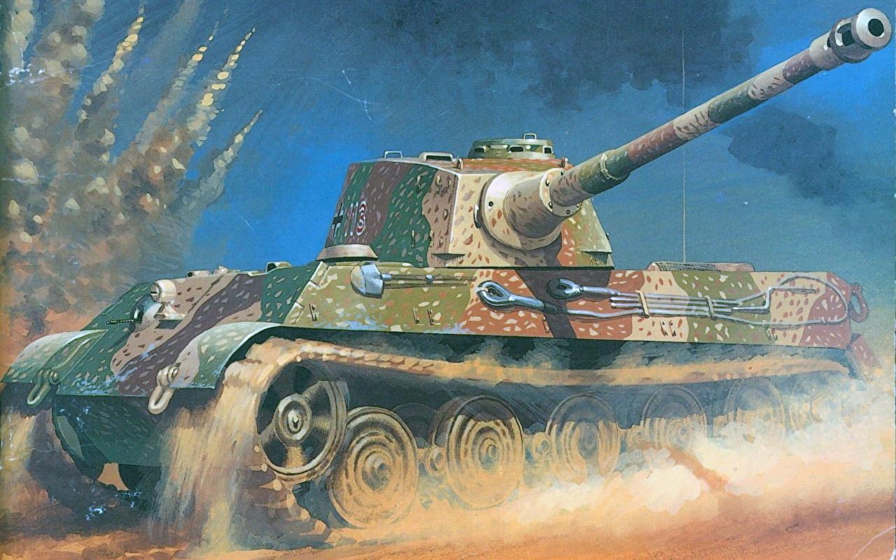 Photos Tank Pzkpfw Vi King Tiger Painting Art Military
