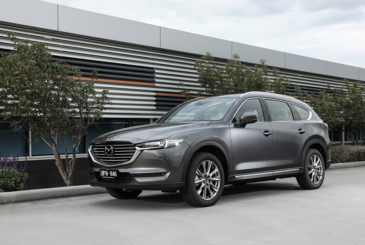 Wallpaper Mazda CUV 2018-20 CX-8 Grey Cars Crossover gray auto automobile