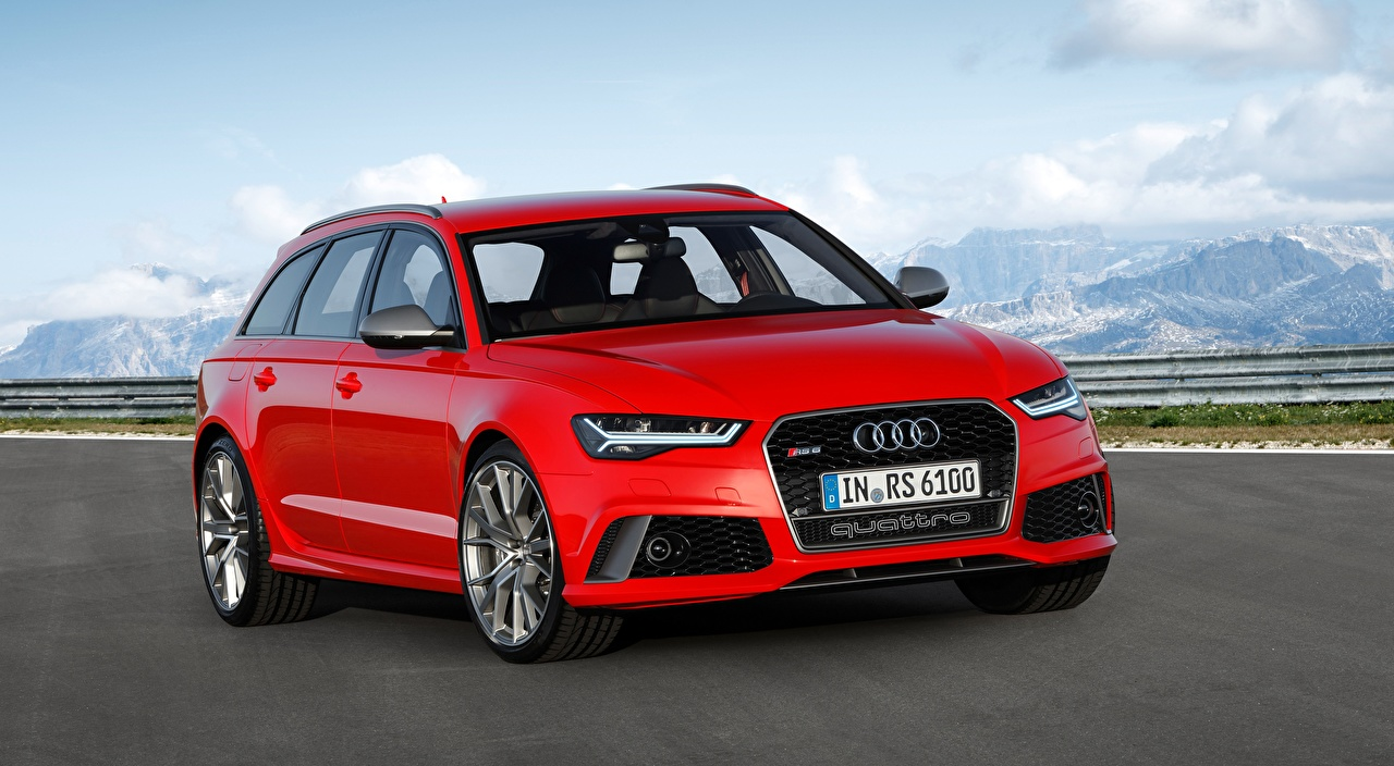 Image Audi Station wagon RS6, Avant performance, 2015 Red Cars Metallic Estate car auto automobile