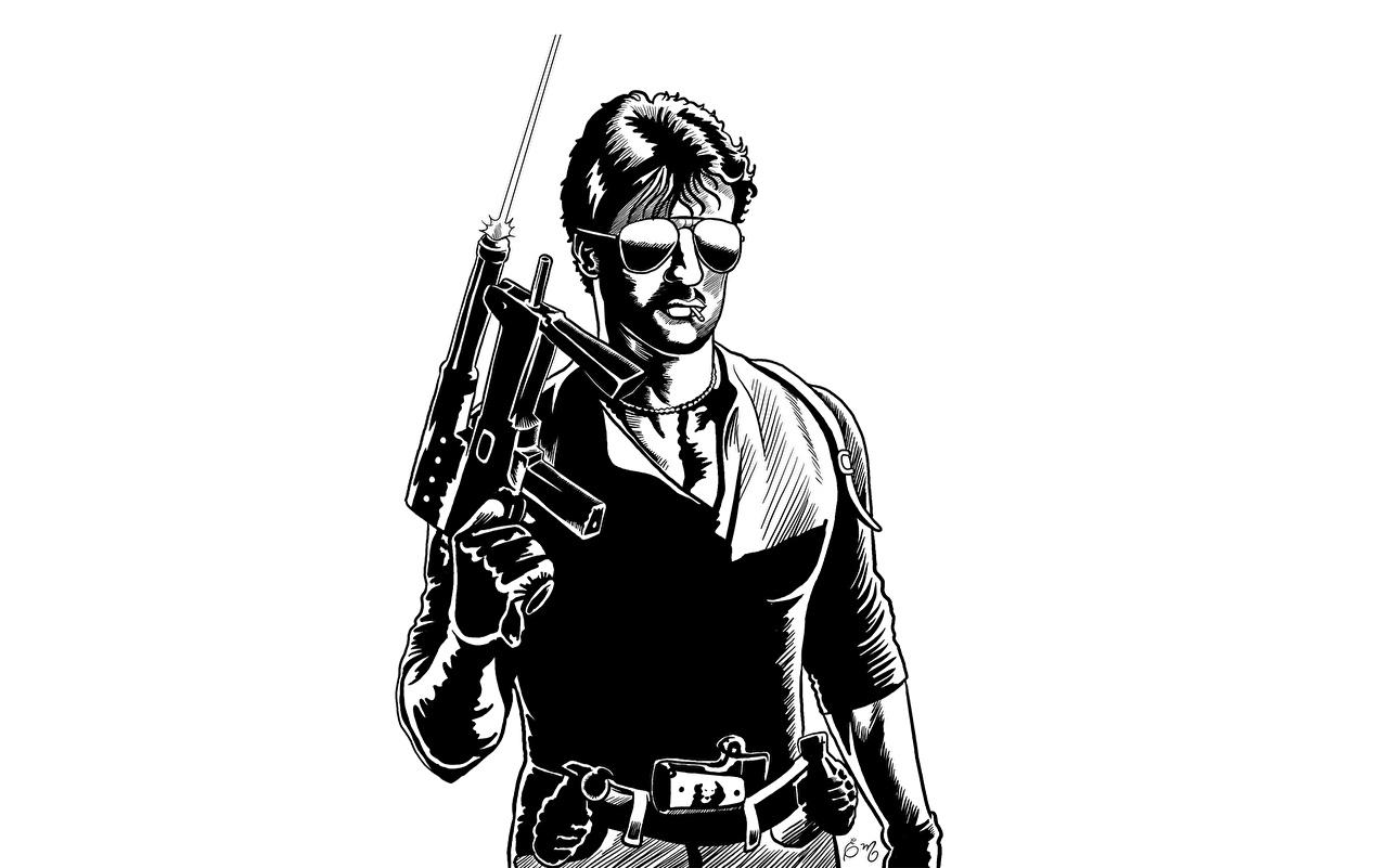 zdjęcia Sylvester Stallone Mężczyźni Cobra Filmy Okulary Celebryci Grafika wektorowa mężczyzna film