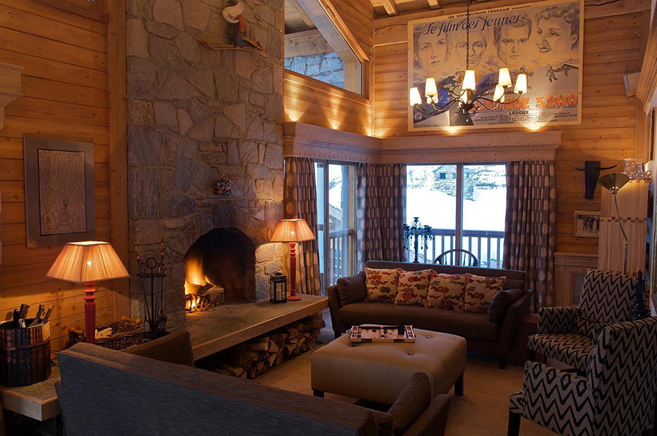 、インテリア、レトロ、暖炉、ソファ、デザイン、居間、シャンデリア、、