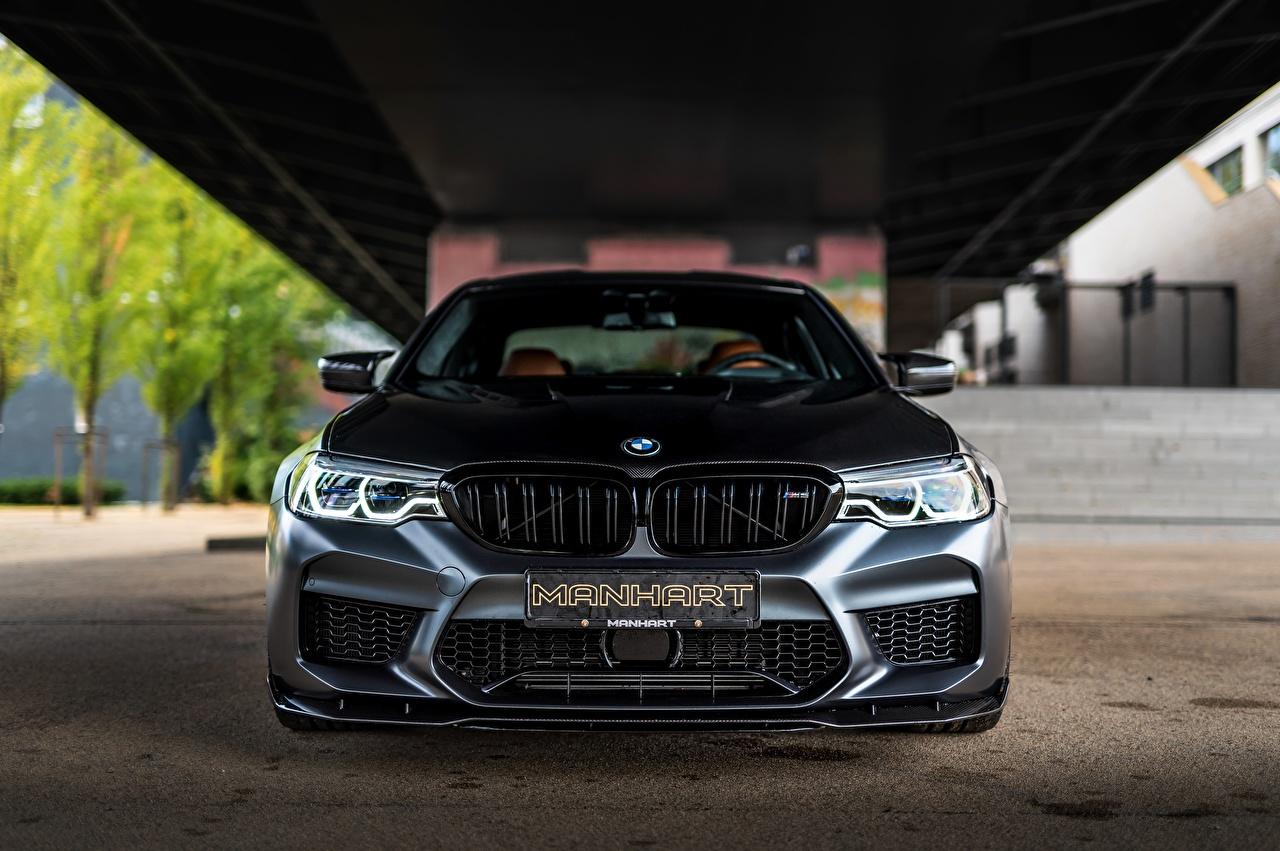 Picture BMW Manhart M5 V8 F90 2019 4.4 MH5 800 815 Black Cars Front auto automobile
