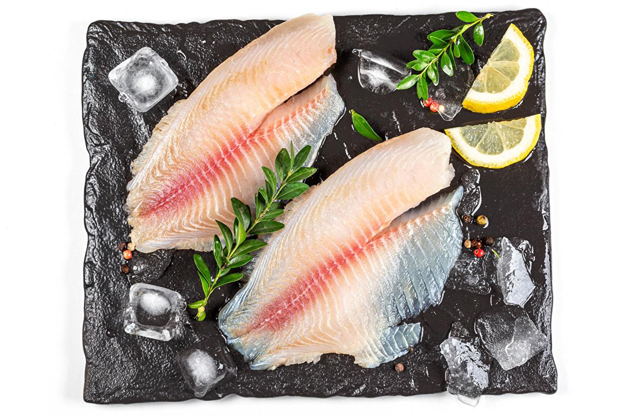 Fotos von Eis Zitrone Fische - Lebensmittel Lebensmittel Zitronen das Essen