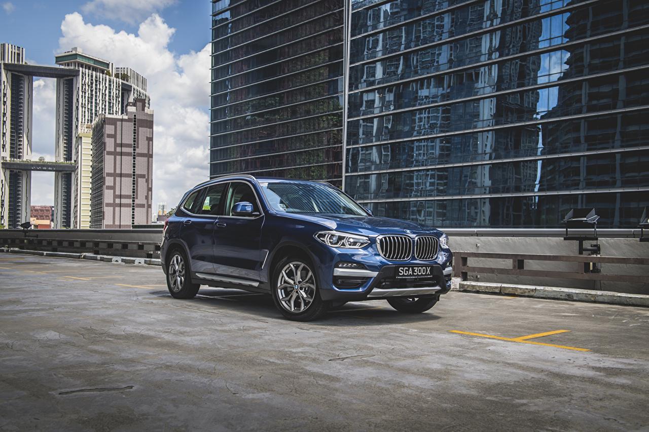 Image BMW CUV 2020 X3 xDrive30e xLine Blue Cars Metallic Crossover auto automobile