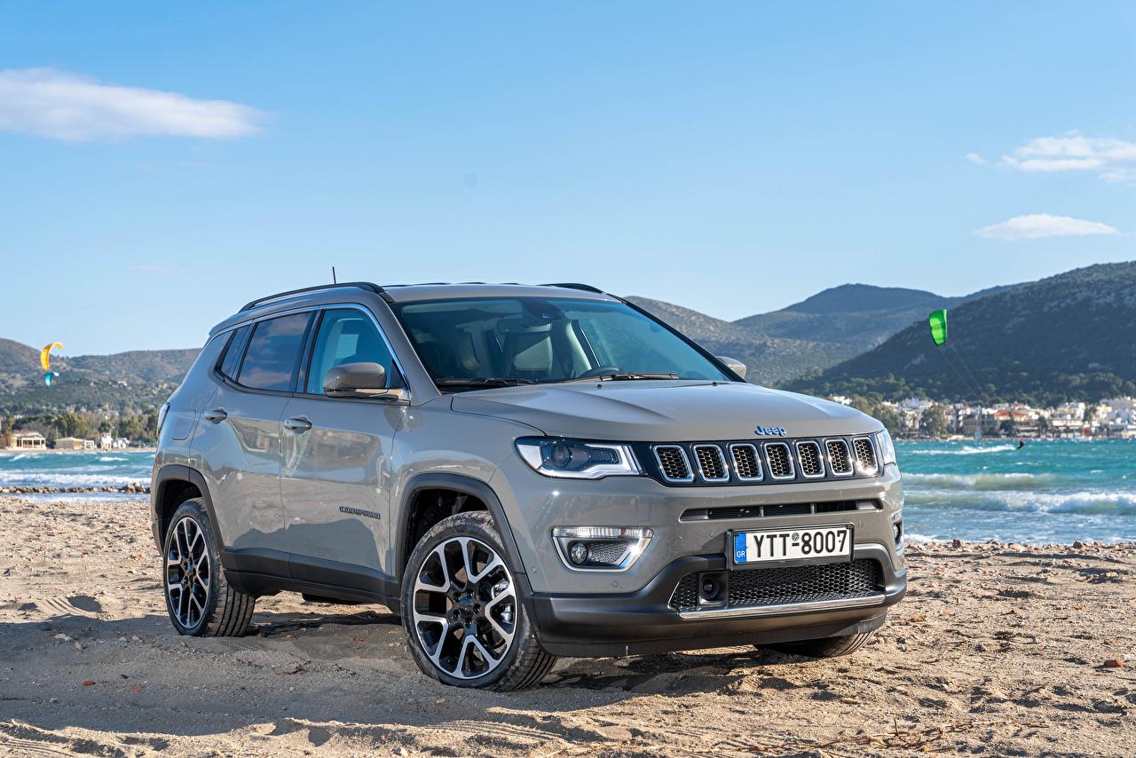 Fotos von Jeep Softroader 2020-21 Compass Limited 4xe Grau auto Metallisch Crossover graue graues Autos automobil