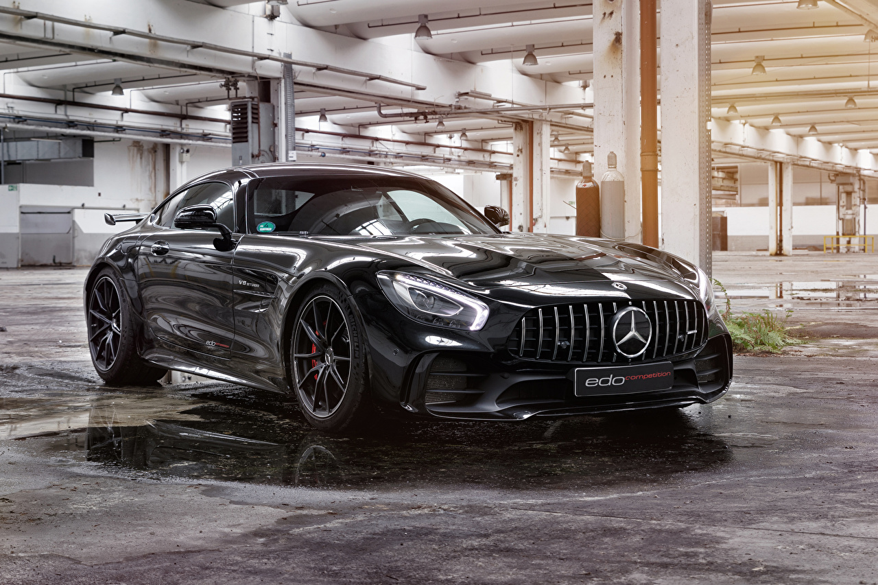 Wallpaper Mercedes-Benz 2018 Edo Competition AMG GT R Black auto Metallic Cars automobile