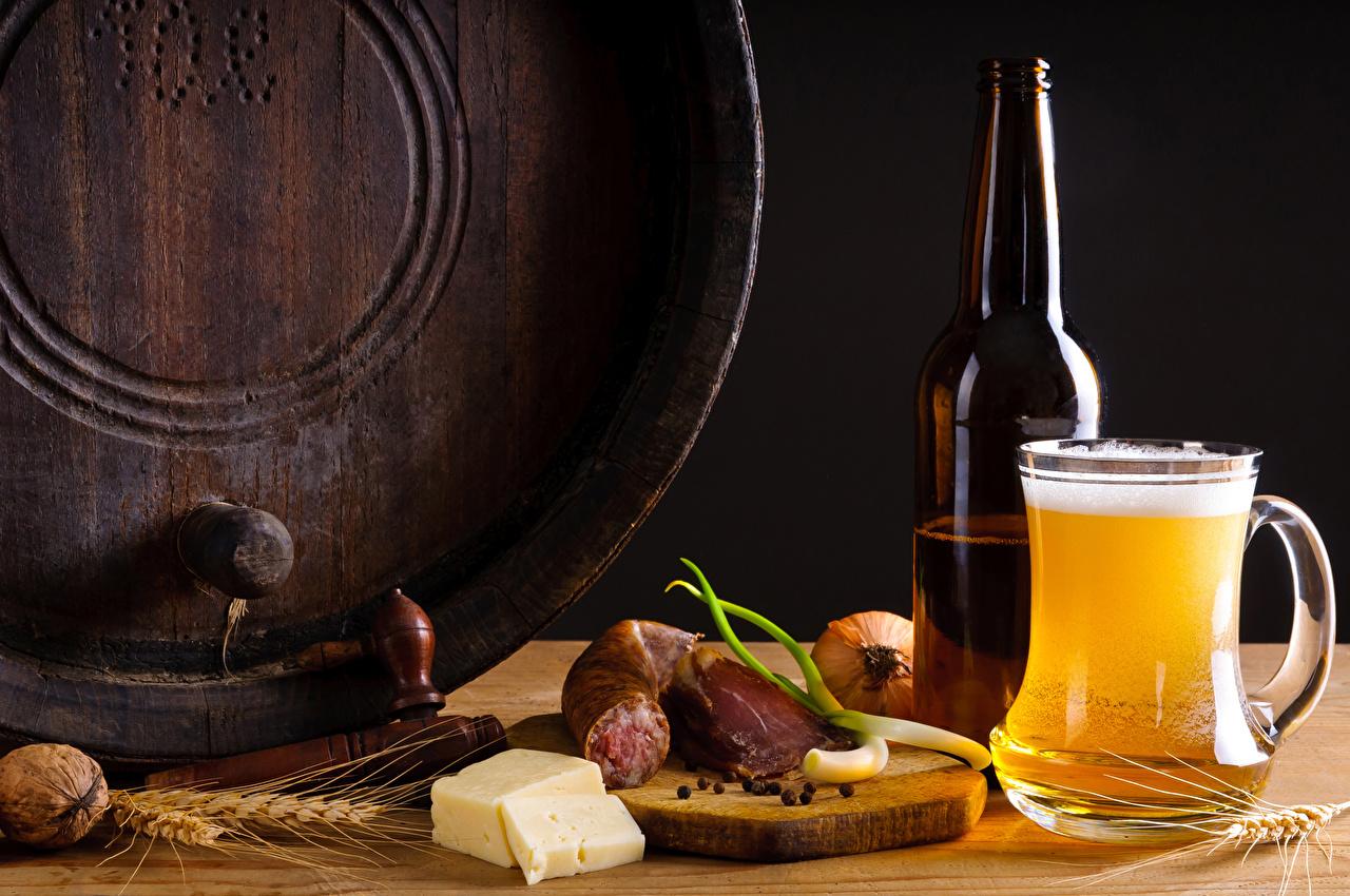 Bilder von Bier Wurst Käse spitze Becher Flasche Lebensmittel Schalenobst Ähre Ähren spitzen flaschen Nussfrüchte
